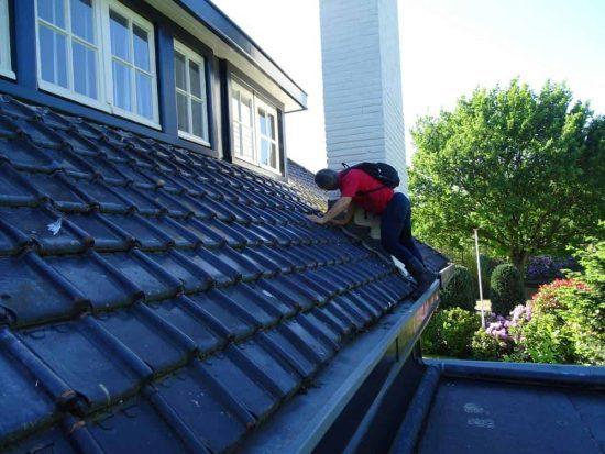 Inspectie op dak
